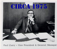 Paul Curry VP HR Curry 1970